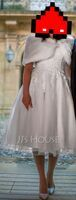 Ball-Gown/Princess Sweetheart Tea-Length Tulle Wedding Dress With Sequins (002153438)
