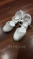 Girl's Round Toe Closed Toe Silk Like Satin Flats Sneakers & Athletic Flower Girl Shoes With Velcro (207204375)