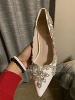 Women's Leatherette Stiletto Heel Pumps With Crystal (047208063)