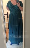 Chiffon Lace Mother of the Bride Dress (267233700)