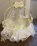 Flower Girl Satin Flower Basket With Bow (198238517)