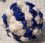 Round Satin Bridal Bouquets (Sold in a single piece) - (123129757)