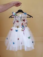 A-Line Knee-length Flower Girl Dress - Tulle/Lace Sleeveless Scoop Neck With Flower(s) (010130942)
