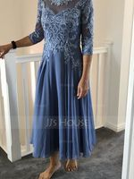 Chiffon Lace Mother of the Bride Dress (267230790)
