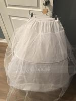 Women Polyester 2 Tiers Petticoats (037120404)