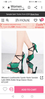 Women's Suede Heels Sandals Pumps Latin Dance Shoes (053063328)
