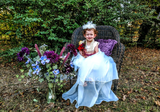 A-Line/Princess Asymmetrical Flower Girl Dress - Taffeta/Tulle Long Sleeves Scoop Neck With Bow(s) (010104987)