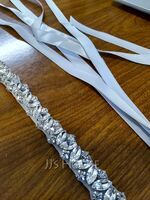 Beautiful Satin Sash With Rhinestones (015200398)