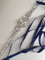 Gorgeous Satin Sash With Rhinestones (015200397)