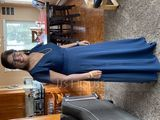 A-Line V-neck Floor-Length Chiffon Bridesmaid Dress With Cascading Ruffles (007206467)