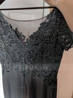 V-neck Ankle-Length Chiffon Lace Mother of the Bride Dress With Sequins (267198037)