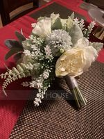 Romantic Free-Form Silk Flower Bridal Bouquets - (123226010)