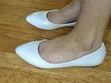 Women's Leatherette Flat Heel Closed Toe Flats With Others (047144210)