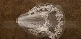 Two-tier Lace Applique Edge Elbow Bridal Veils With Lace (006141345)
