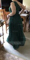 One-Shoulder Floor-Length Chiffon Bridesmaid Dress With Ruffle (266195785)