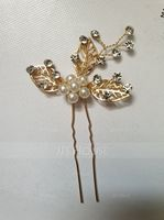 Ladies Classic Crystal/Alloy/Imitation Pearls Hairpins (Sold in single piece) (042116294)