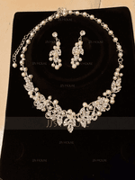 Classic Alloy/Pearl/Rhinestones Ladies' Jewelry Sets (011075821)