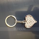 Personalized Heart Shaped Zinc Alloy Keychains (Set of 4) (118031772)
