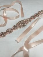 Gorgeous Satin Sash With Rhinestones (015205463)