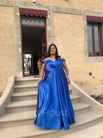 A-Line Off-the-Shoulder Floor-Length Prom Dresses With Ruffle Pockets (018224415)