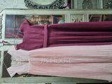 A-Line Square Neckline Floor-Length Chiffon Junior Bridesmaid Dress With Lace Bow(s) Pleated (009217817)