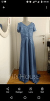 A-Line V-neck Floor-Length Chiffon Lace Mother of the Bride Dress With Sequins (267260200)