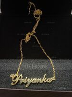 Custom 18k Gold Plated Silver Signature Script Name Necklace - Birthday Gifts Mother's Day Gifts (288216876)