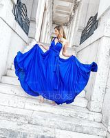 A-Line Floor-Length Jersey Bridesmaid Dress With Ruffle (007057716)