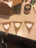 Heart Shaped Hemp Rope/Linen Banner (8 Pieces) (131152233)
