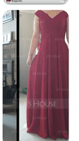 Scoop Neck Floor-Length Chiffon Bridesmaid Dress (266213388)