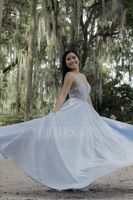 A-Line V-neck Floor-Length Satin Prom Dresses With Beading Sequins (018192352)