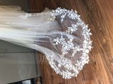 One-tier Chapel Bridal Veils With Lace (006190599)