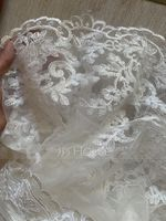 Two-tier Lace Applique Edge Cathedral Bridal Veils With Lace (006183283)