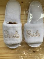 Bride Gifts - Velvet Cloth Slippers (255174718)