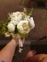 Blooming Round Silk/Cloth Bridal Bouquets/Bridesmaid Bouquets - (123201750)
