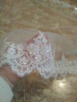 Two-tier Lace Applique Edge Cathedral Bridal Veils With Lace (006183212)