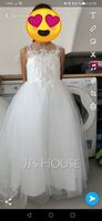 Ball-Gown/Princess Floor-length Flower Girl Dress - Satin/Tulle/Lace Sleeveless Scoop Neck With Beading (010220967)