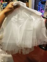 Girls Tulle Netting/Taffeta Short-length 3 Tiers Petticoats (037005549)