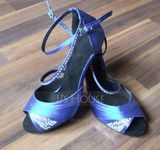 Women's Satin Heels Latin With Buckle Sequin Dance Shoes (053227467)