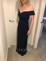 Off the Shoulder Sleeveless Maxi Dresses (293250299)