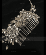 Ladies Glamourous Alloy Combs & Barrettes With Crystal (Sold in single piece) (042153888)