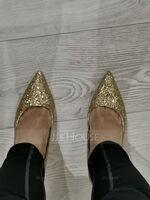 Women's Sparkling Glitter Stiletto Heel Pumps Closed Toe With Sparkling Glitter Jewelry Heel shoes (085139787)