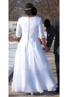 Ball-Gown V-neck Court Train Organza Wedding Dress With Ruffle (002127246)