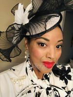 Dames Beau Batiste/Feather avec Feather Chapeaux de type fascinator/Kentucky Derby Des Chapeaux (196154304)