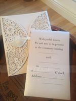 Classic Style Gate-Fold Invitation Cards With Ribbons (Set of 10) (118040263)