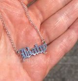 Bride Gifts - Personalized Eye-catching Sterling Silver Necklace (255215304)