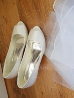 Women's Silk Like Satin Stiletto Heel Pumps With Others (047118969)
