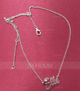 Custom Sterling Silver Name Necklace With Diamond - Birthday Gifts Mother's Day Gifts (288211302)