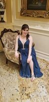 A-Line V-neck Floor-Length Chiffon Bridesmaid Dress With Beading Sequins Split Front Pockets (007176755)
