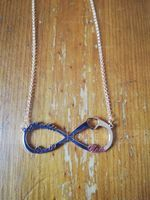 Custom 18k Rose Gold Plated Silver Infinity Three Name Necklace Infinity Name Necklace With Heart - Birthday Gifts Mother's Day Gifts (288211244)